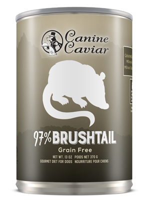 Canine Caviar 97% Brushtail Grain Free Canned Dog Food - Canine Caviar Pet Foods Inc.
